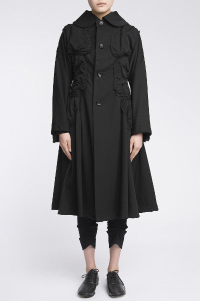 COMME des GARÇONS <br> Coat With Attached Patches