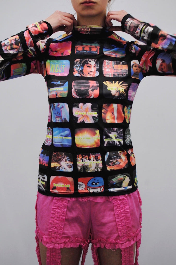 Walter Van Beirendonck <br> W & LT TV Digital Print Top