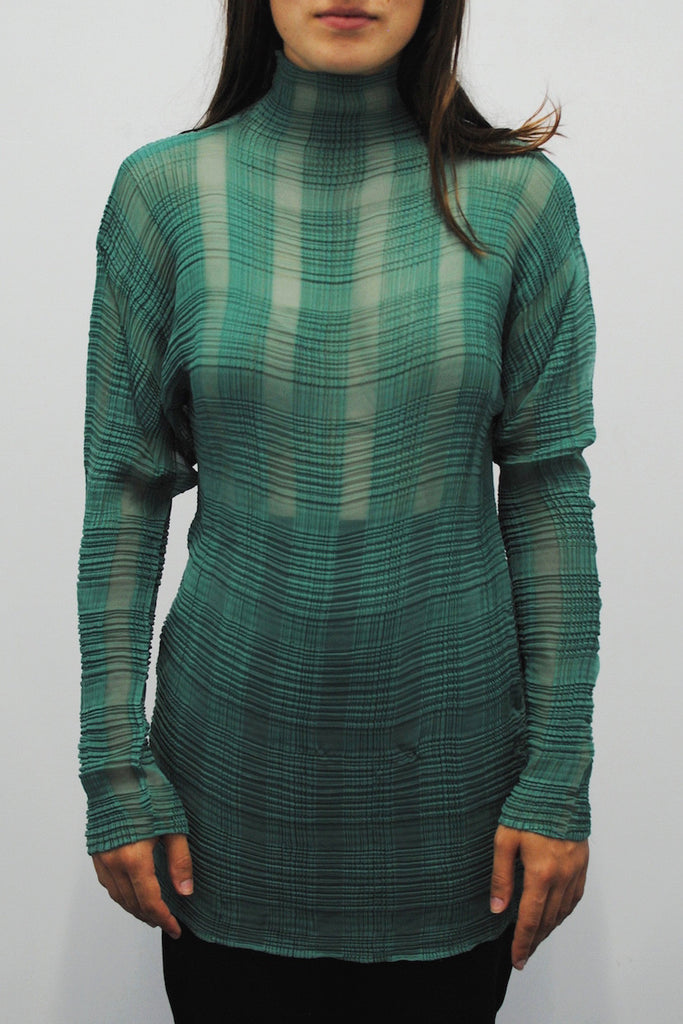 Issey Miyake <br> Long Wave Pleat Top