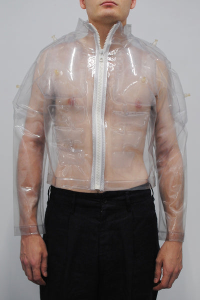Walter Van Beirendonck <br> Clear Inflatable Muscle Jacket