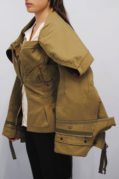 Junya Watanabe <br> Oversized Deconstructed Military Jacket