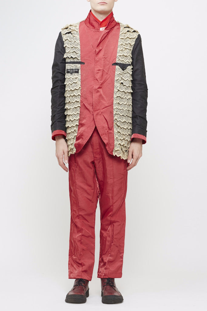 COMME des GARÇONS <br> Milled Nylon Suit With Frilled Lining
