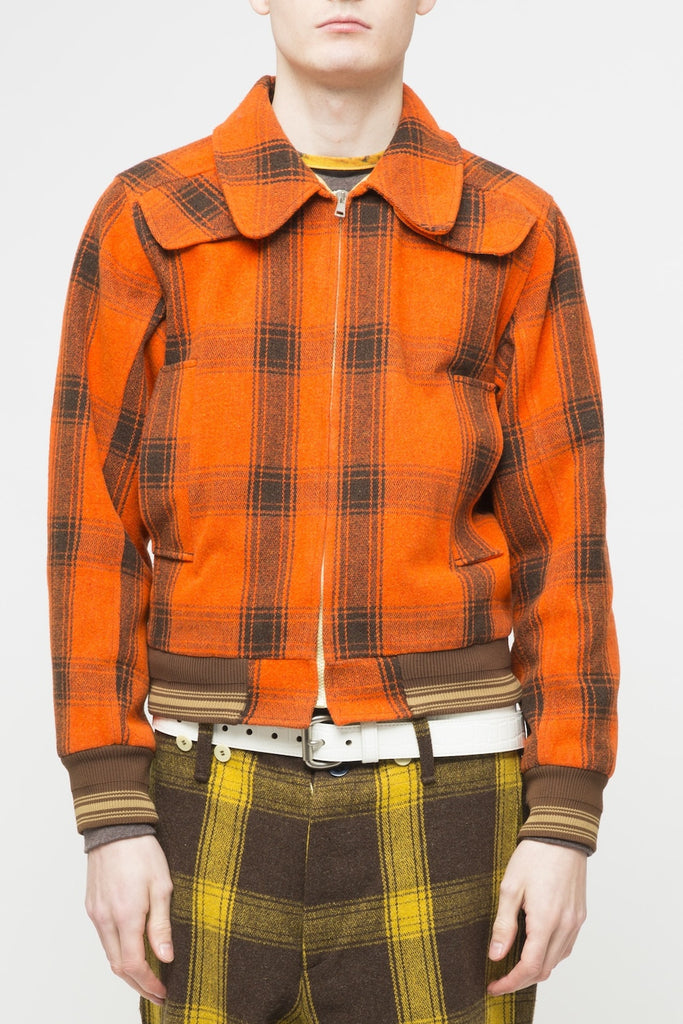 Walter Van Beirendonck <br> Red Plaid Jacket