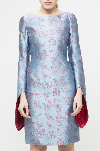 Walter Van Beirendonck <br> Silk embroidered Dress