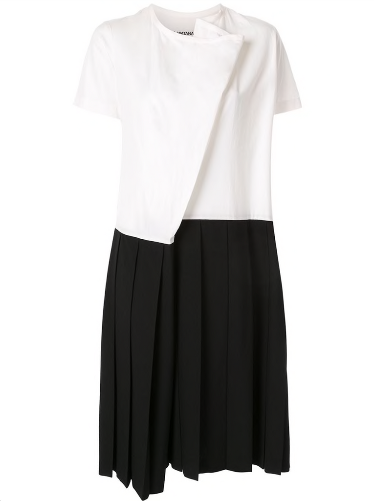 JUNYA WATANABE COMME DES GARÇONS pleated top & skirt dress