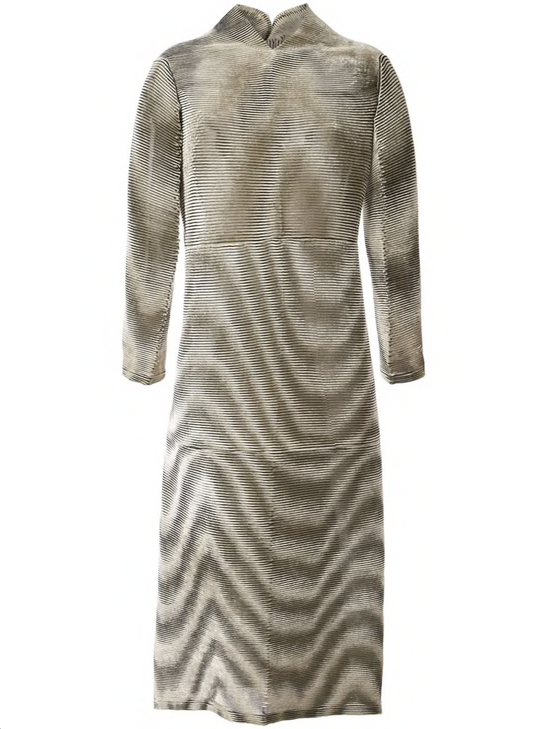 ISSEY MIYAKE ripple pleat velvet dress