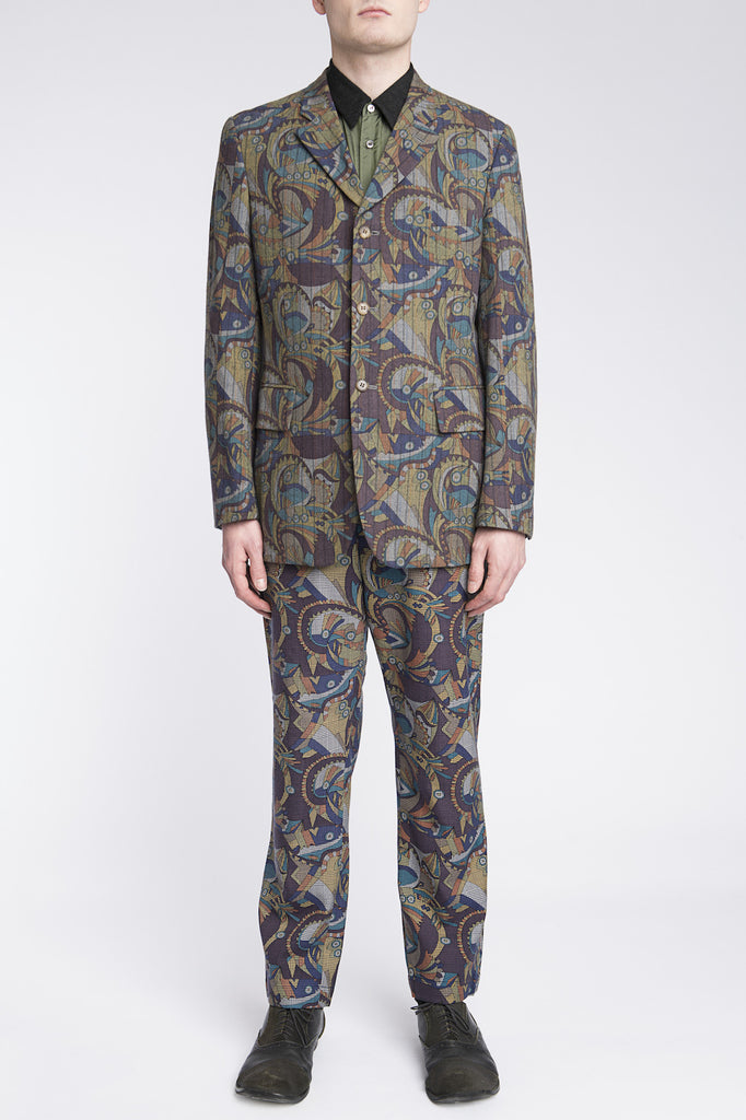 COMME des GARÇONS <br> Abstract Psychedelic Suit