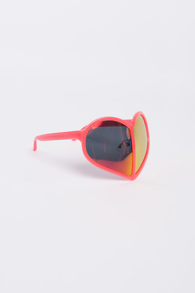 Walter Van Beirendonck <br> Oversized Love Heart Sunglasses
