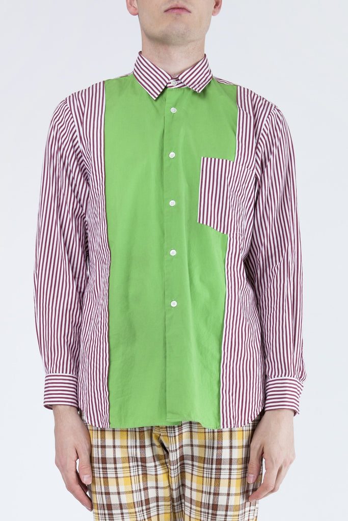 COMME des GARÇONS <br> Striped Shirt With Centre Panel