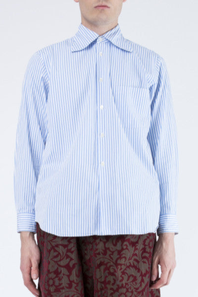 COMME des GARÇONS <br> Striped Shirt With Pointed Collar