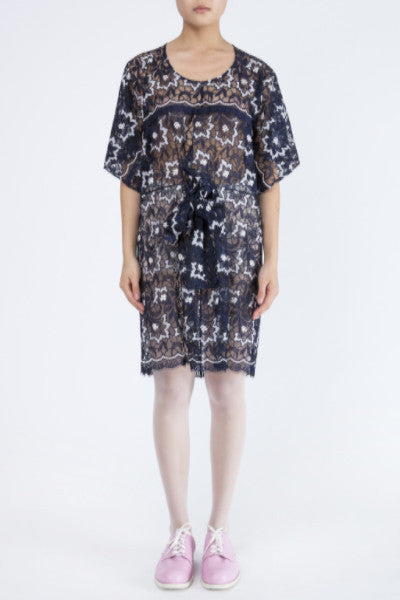Junya Watanabe Floral Lace Smock Dress Dot Comme
