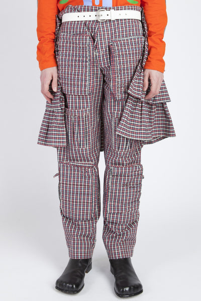 Walter Van Beirendonck <br> Plaid Skirt Pants