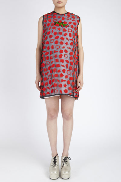 Walter Van Beirendonck <br> Flocked Icon Dress