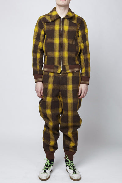 Walter Van Beirendonck <br> Yellow Plaid Suit