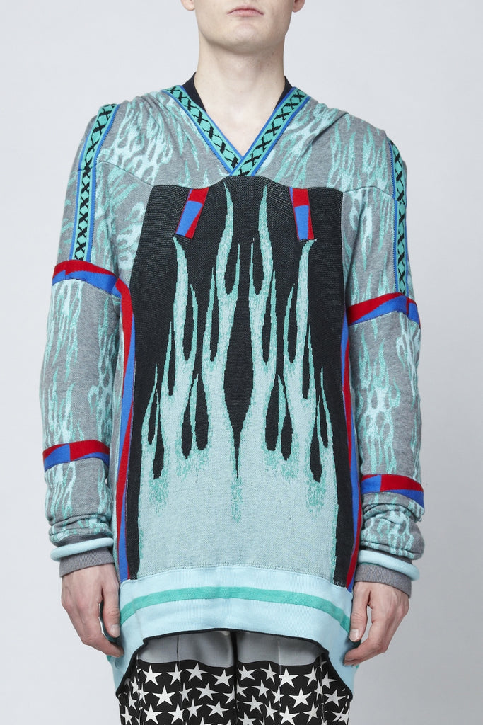 Bernhard Willhelm <br> Flame Print Jacquard Knit