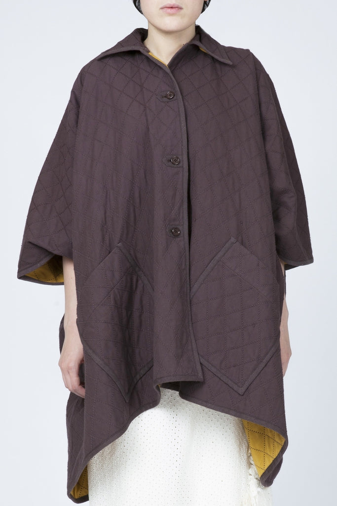 Issey Miyake <br> Quilted Poncho