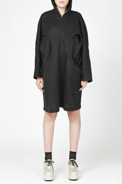 COMME des GARÇONS <br> Hooded cut-out Dress