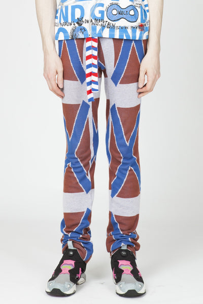 Bernhard Willhelm <br> Cross Print Jacquard Pants