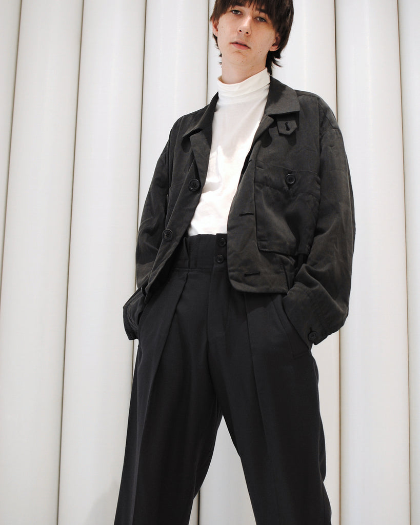 ISSEY MIYAKE worker two-piece suit