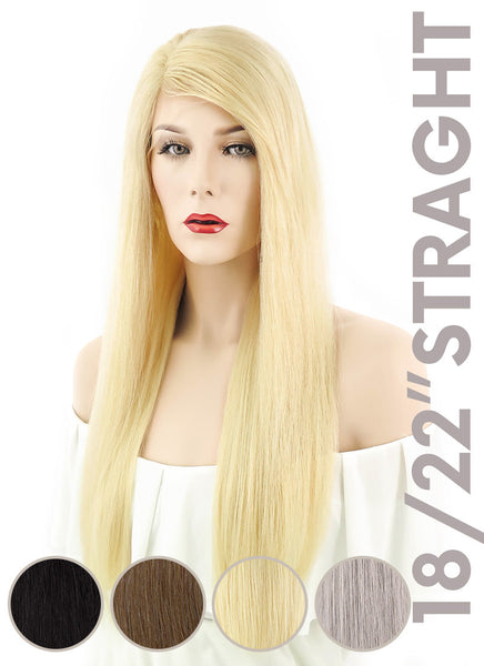 "18"" / 22"" Straight Lace Front Remy Natural Hair Wig - wifhair"