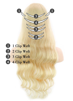120g / 160g / 220g Full Head Set Clip-In Natural Hair Extensions - wifhair