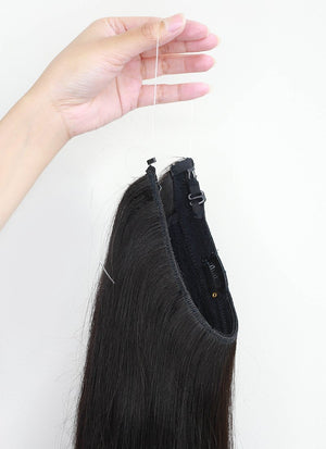"20"" 180g Halo Natural Hair Flip-In Extensions - wifhair"