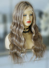 "16"" Medium Straight Mixed Brown Lace Front Remy Natural Hair Wig HG031"