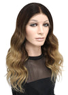 "16"" Long Wavy Blonde Mixed Brown Lace Front Remy Natural Hair Wig HG030"