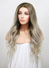 "24"" Long Two Tone Blonde Ombre Wavy Lace Front Virgin Natural Hair Wig HG060 - wifhair"