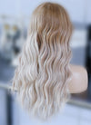 "22"" Long Two Tone Blonde Ombre Wavy Lace Front Virgin Natural Hair Wig HG062"