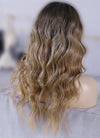 "20"" Long Brown Blonde Ombre Wavy Lace Front Virgin Natural Hair Wig HG068 - wifhair"