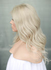 "14"" Long Wavy Pastel Ash Blonde Lace Front Virgin Natural Hair Wig HG070 - wifhair"
