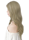 "22"" Long Wavy Mixed Blonde With Dark Roots Lace Front Virgin Natural Hair Wig HG008"
