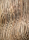 "20"" Long Light Blonde With Brown Roots Wavy Lace Front Virgin Natural Hair Wig HG067 - wifhair"