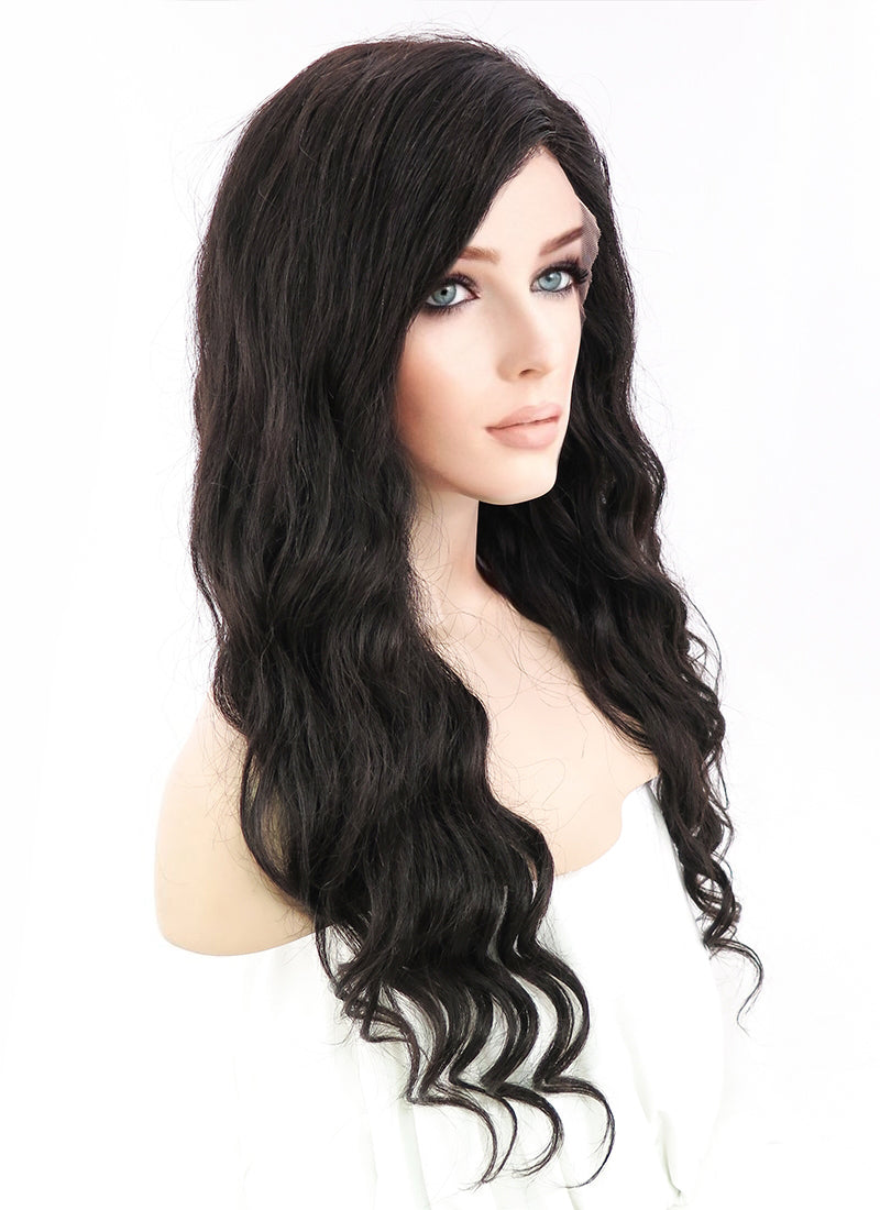 "20"" Long Curly Off Black Lace Front Remy Natural Hair Wig HH028 - wifhair"