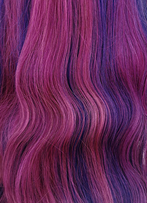 "24"" Long Wavy Dreamy Mixed Purple Lace Front Remy Natural Hair Wig HH090 - wifhair"