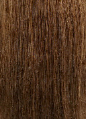 "24"" Long Straight Chestnut Brown With Dark Roots Lace Front Remy Natural Hair Wig HH136 - wifhair"