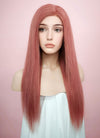 "22"" Long Straight Pink Lace Front Remy Natural Hair Wig HH138 - wifhair"
