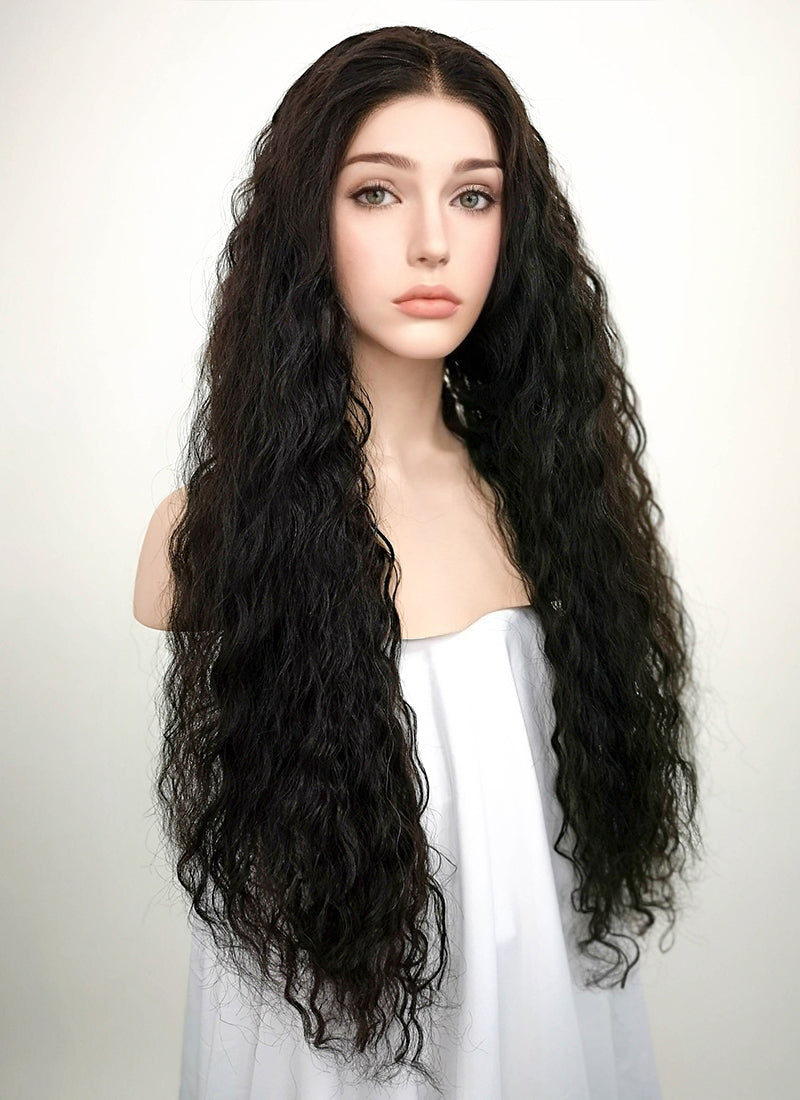 "22"" Long Curly Natural Black Lace Front Remy Natural Hair Wig HH159 - wifhair"