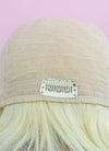 "9"" Short Layer Bleach Blonde Mono Crown Virgin Natural Hair Wig HH171 - wifhair"