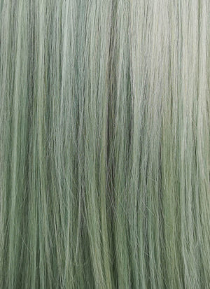 "14"" Medium Straight Light Green Lace Front Remy Natural Hair Wig HH179 - wifhair"