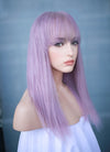 "12"" Medium Straight Light Purple Lace Front Remy Natural Hair Wig HH181 - wifhair"