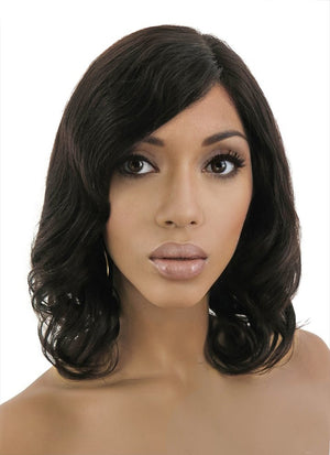 "12"" Short Curly Off Black Lace Front Remy Natural Hair Wig HH038 - wifhair"