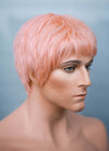"9"" Short Layer Peach Pink Mono Crown Virgin Natural Hair Wig HHM157 - wifhair"