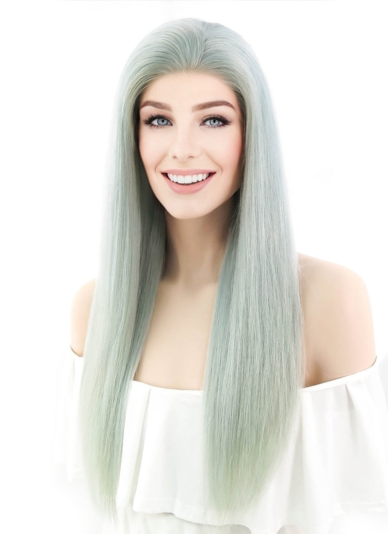 Pastel wig. Mint hair wig. Long curly hairstyle wig. Durable |Mint Hair Wig