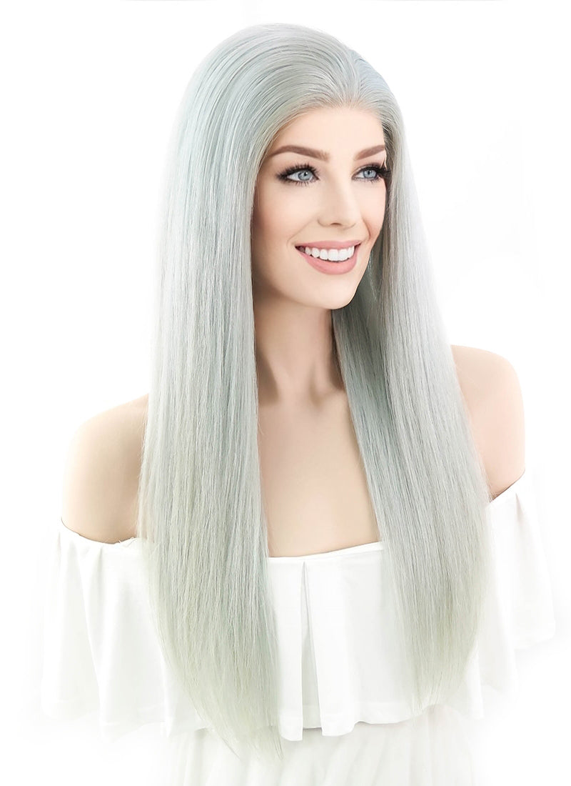 V'NICE Long Straight Realistic Looking Mint Green Wig Hair ... |Mint Hair Wig