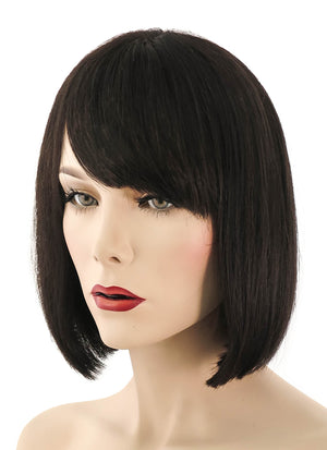 "10"" Short Straight Off Black Lace Front Brazilian Natural Hair Wig HH056 - wifhair"