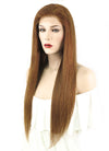 "22"" Long Straight Medium Brown Full Lace Brazilian Natural Hair Wig HH063 - wifhair"