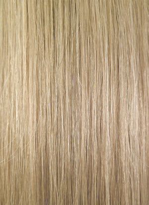 "16"" Long Straight Light Blonde With Dark Brown Roots Full Lace Virgin Natural Hair Wig HH068"