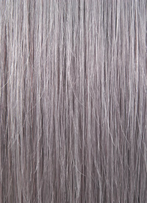 "16"" Long Straight Purple Grey With Brown Roots Full Lace Remy Natural Hair Wig HH070 - wifhair"